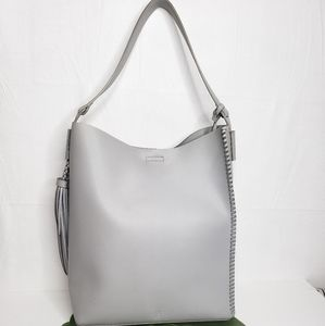NY&Co Grey Large Grey Bucket Bag With Tassle